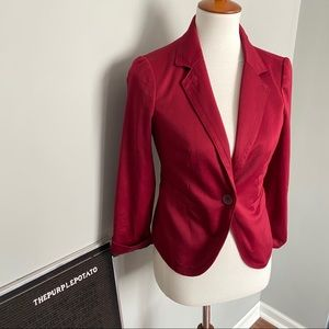 The Limited Deep Red One Button Blazer